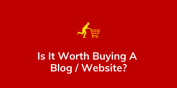 Is It Worth Buying A Blog website
