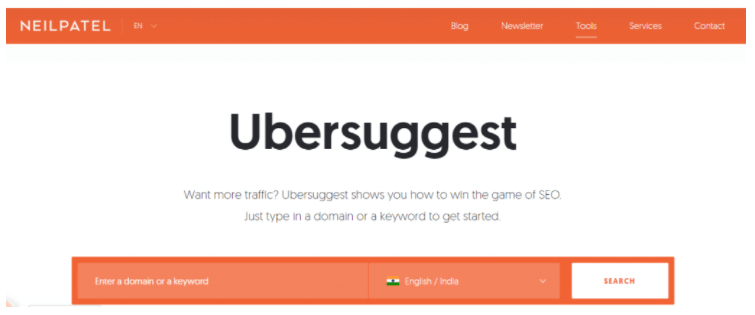 ubersuggest to find out blogs to comment