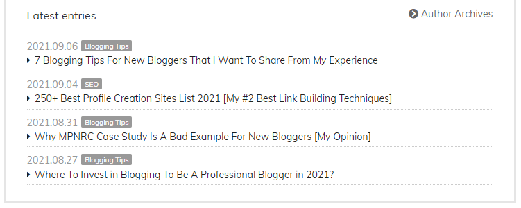 related post internal linking example